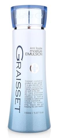 Graisset Anti Trouble Moisture Emulsion - Sữa dưỡng ẩm cho da dầu, da mụn và da tổn thương