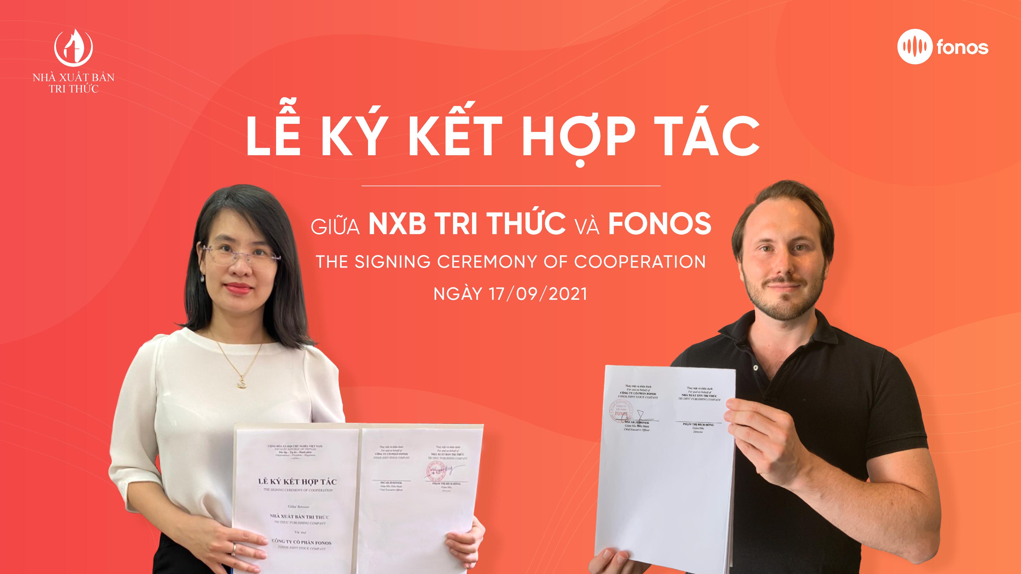 Nhà xuất bản Tri Thức và Fonos hợp tác chiến lược