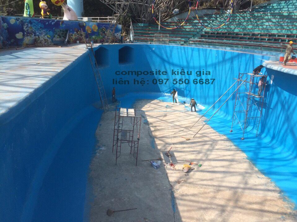 Bọc Phủ Composite Cho Bể Cá Heo