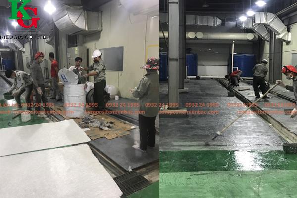 Bọc phủ composite cho sàn bê tông