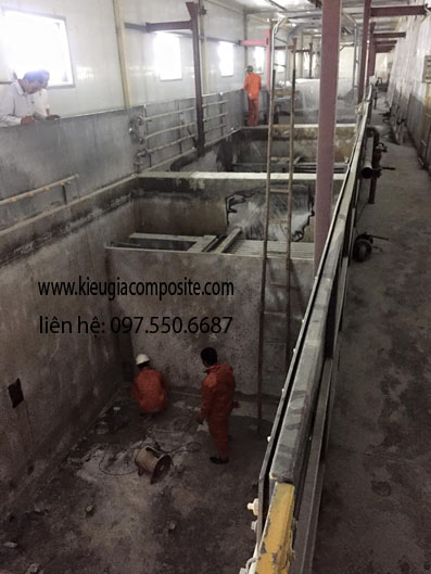 bọc phủ cho bể chứa axit