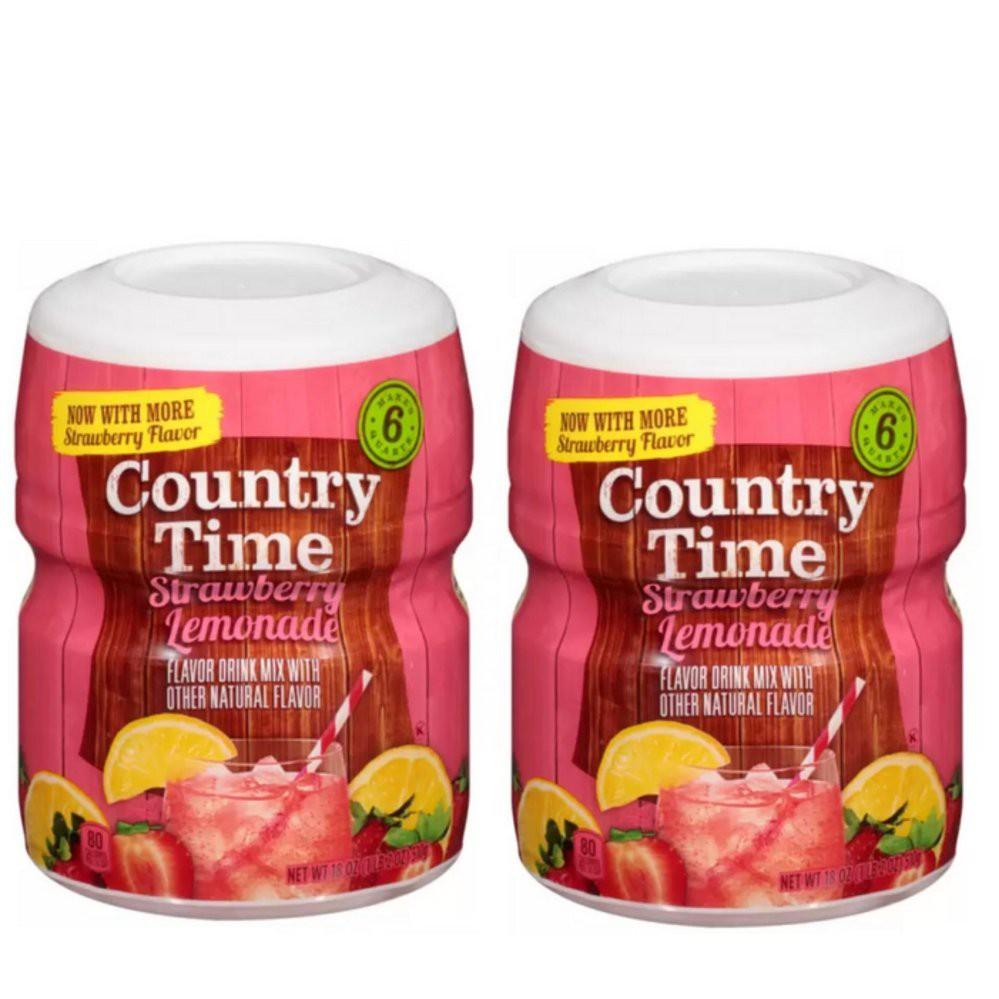 Bột Pha Nước Chanh Dâu Country Time Strawberry Lemonade Của Mỹ