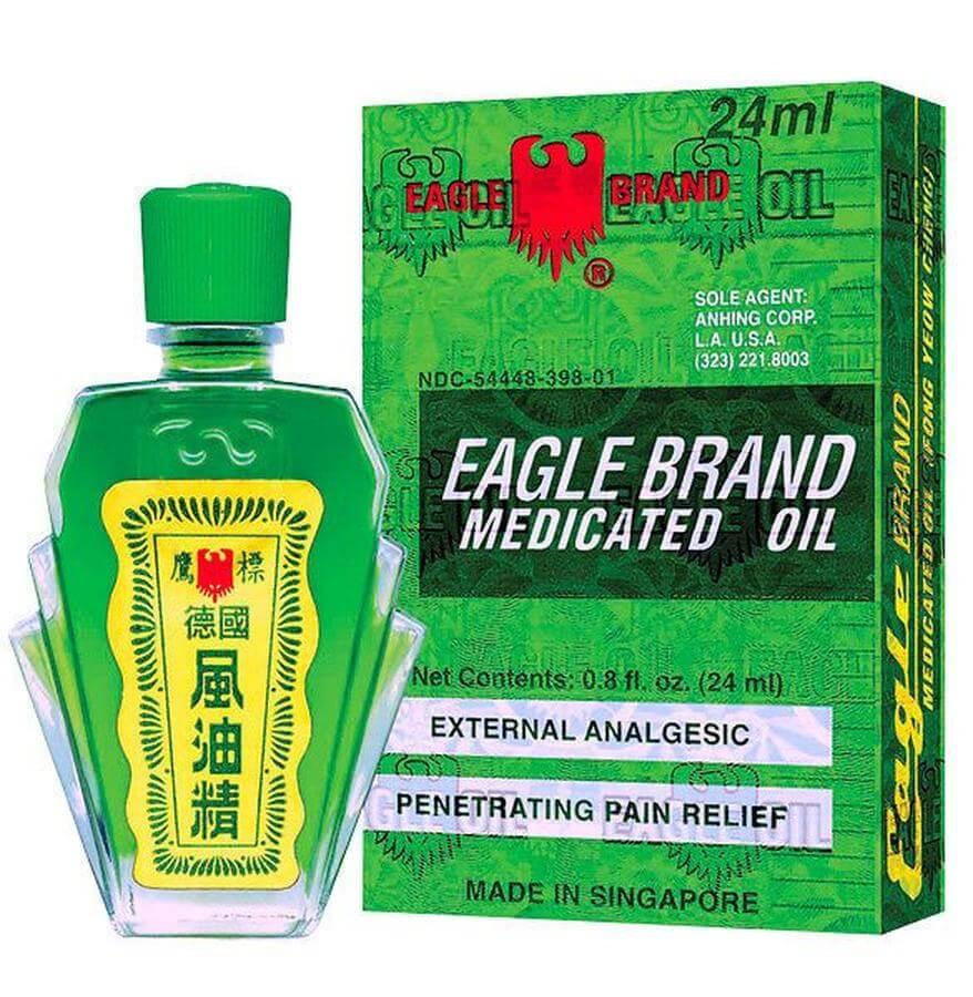 Dầu Gió Xanh Con Ó Mỹ Eagle Brand Medicated Oil 24ml