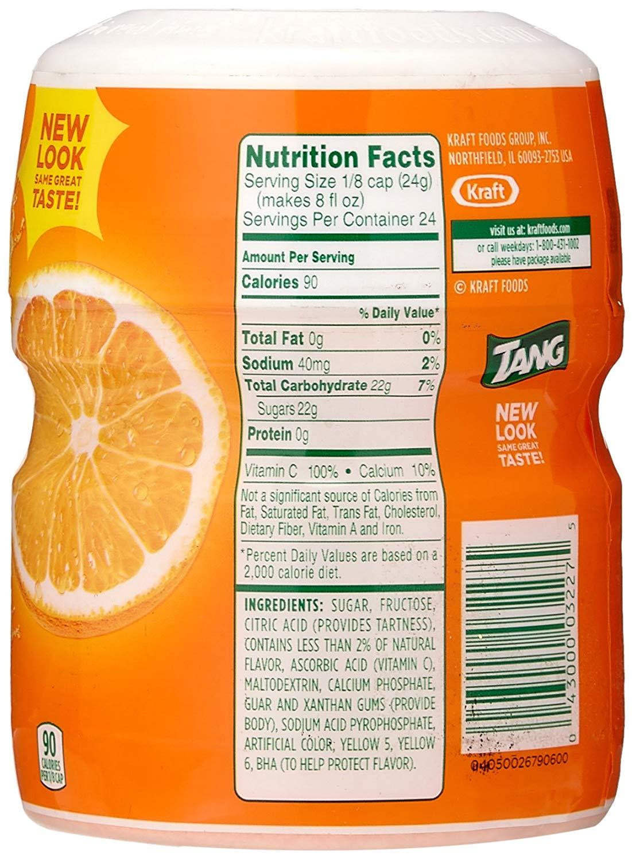 Bột Pha Nước Cam Tang Orange Natural Flavor Mỹ