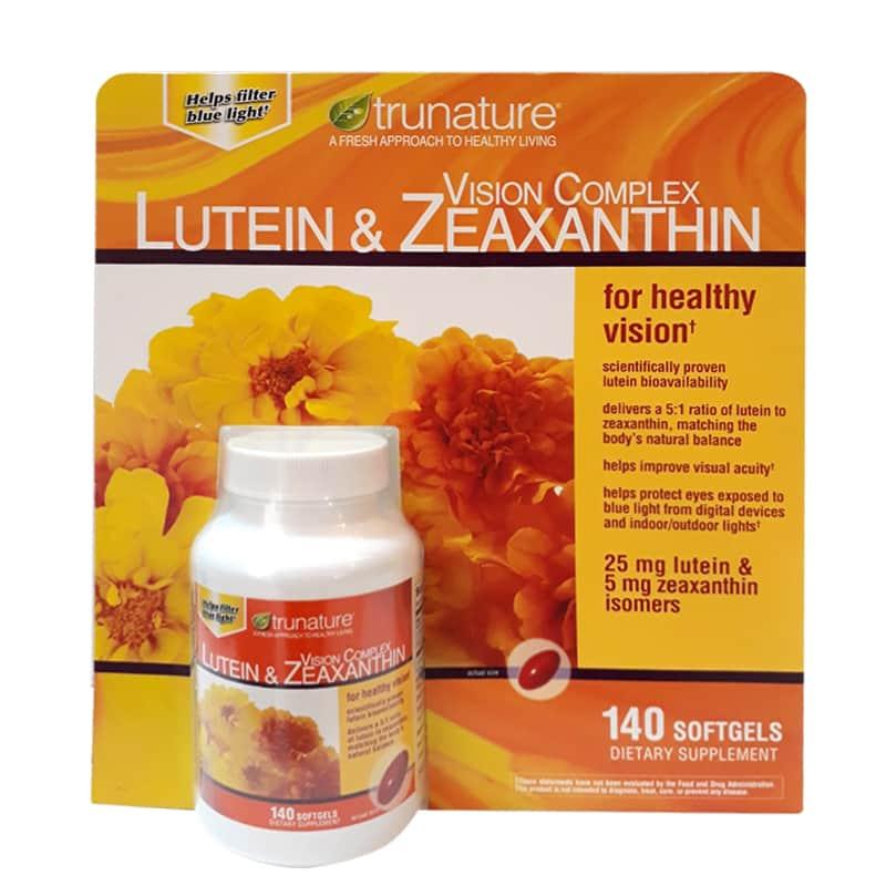 Viên Uống Giúp Sáng Mắt Trunature Vision Complex Lutein & Zeaxanthin 140 Viên