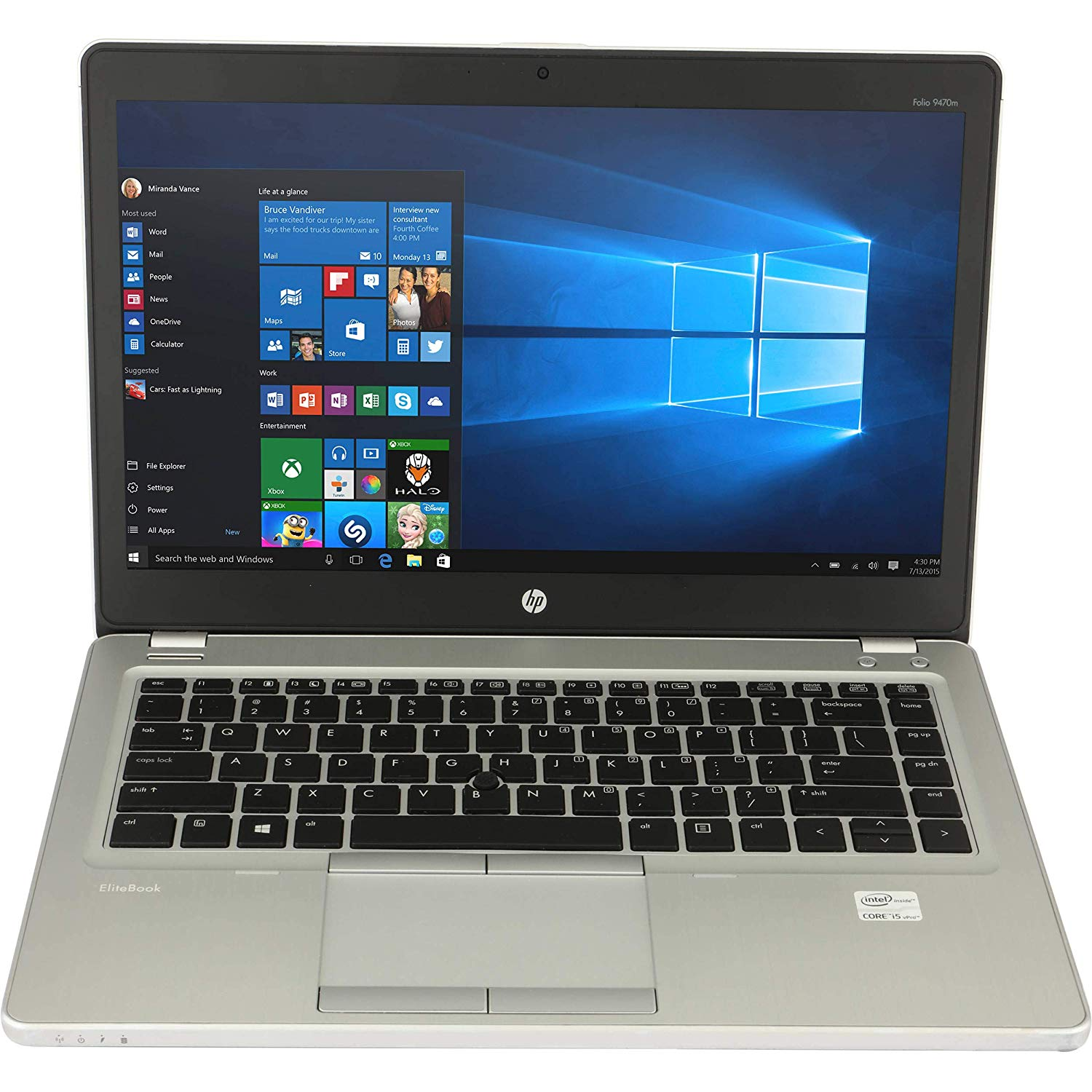 HP Elitebook 9470m ( Intel Core i5 3437u-4Gb-128Gb SSD-14