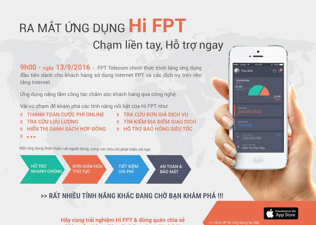 Hi FPT giúp kết nối người dùng Internet bằng một cú chạm