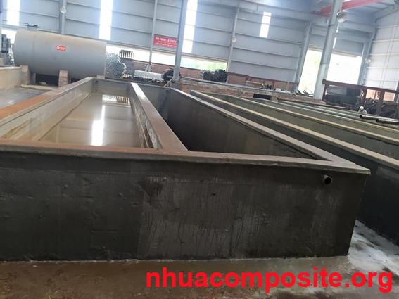 Bọc composite cho bể bê tông mạ kẽm