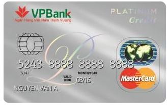Thẻ tín dụng Mastercard Platinum VpBank