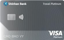 Thẻ tín dụng quốc tế Shinhan Visa Travel Hạng Bạch Kim