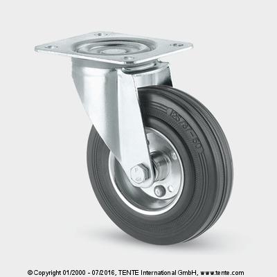 Được đánh giá là một trong những loại bánh xe đẩy có khả năng chịu lực khá cao, bánh xe được làm từ chất liệu cao su,luôn là sản phẩm nhận được sự quan tâm rất lớn từ phía các doanh nghiệp sản xuất bởi độ bền của nó. Đặc tính của chất liệu này chính là độ bền và có khả năng linh hoạt, dẻo dai khi vận chuyển. Vậy nên bạn hoàn toàn yên tâm về độ an toàn của bánh xe này khi sử dụng:   + Bánh xe đẩy chịu được lực cao, chịu hóa chất tốt, chống mài mòn, dễ dàng lưu thông trong nhiều môi trường làm khác nhau.  + Được làm từ lốp cao su nên khi di chuyển không gây ra tiếng ồn, không tạo vết lằn trên mặt sàn, giữ gìn vệ sinh cho những nơi đi qua
