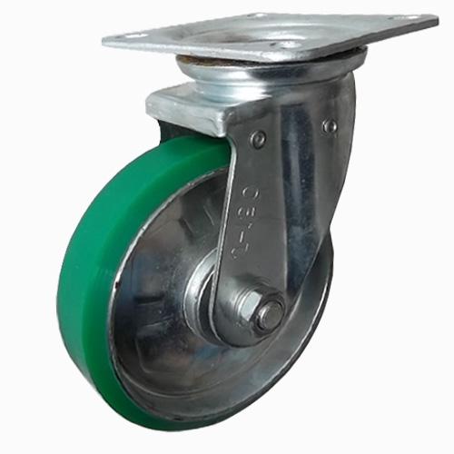 + Bánh xe đẩy chịu được lực khá tốt, dễ dàng lưu thông trong nhiều môi trường làm   nhau.  + Được làm từ lốp cao su nên khi di chuyển không gây ra tiếng ồn, không tạo vết lằn trên mặt sàn, giữ gìn vệ sinh cho những nơi đi qua  + Có tính thẩm mỹ với màu đặc trưng là màu xanh bề mặt nhẵn mịn thuận tiện khi vệ sinh bánh xe.