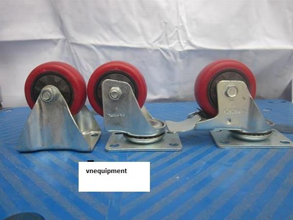 Bánh xe PA đỏ phi 80 với tính năng kháng mòn cao cao,chịu hóa  chất tốt,nhiệt độ cao,chịu được axit