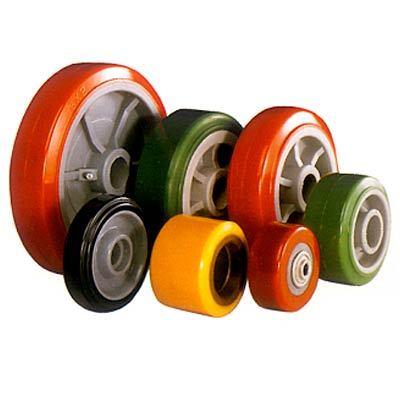 Bọc bánh xe nâng cao su giúp giảm sóc, giảm chấn, chịu mài mòn tốt,chịu được tải trọng cao