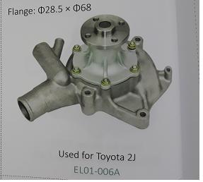 Bơm nước xe nâng động cơ Toyota 2J, Mã SP: EL01-006A