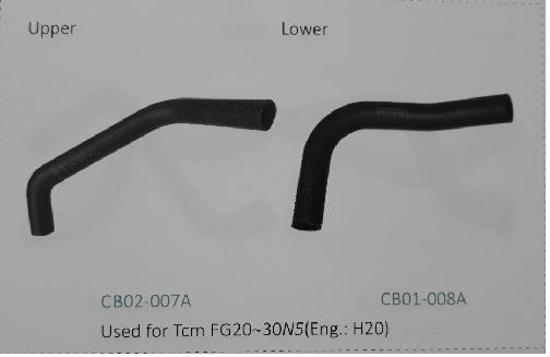 Ống nước trên và ống nước dưới xe nâng TCM FG20~30N5 động cơ H20