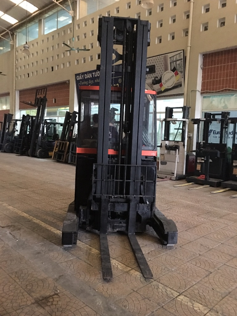 Xe nâng điện cũ   BT RRE 160 CC, sức nâng 1500kg, khung 3 tầng, nâng cao 7m, 2012, SK 6201108