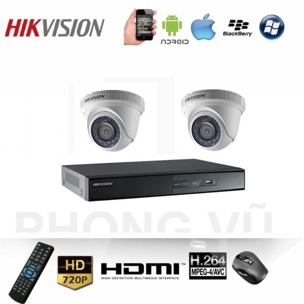 Trọn Bộ Camera 2 Mắt Lắp Full HD 720P Megapixel