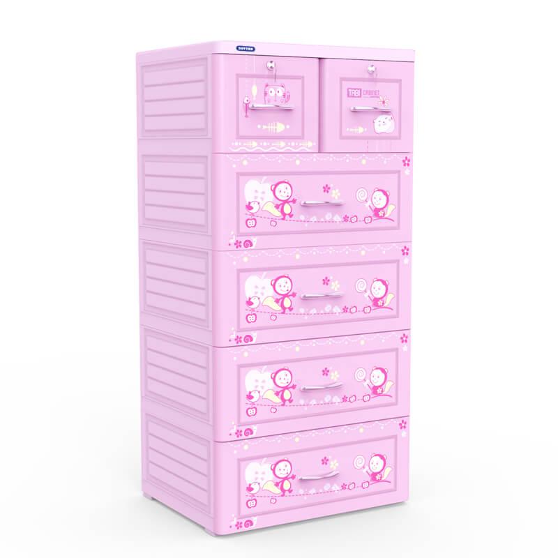 Tủ Tabi màu hồng 5 ngăn Duy Tân