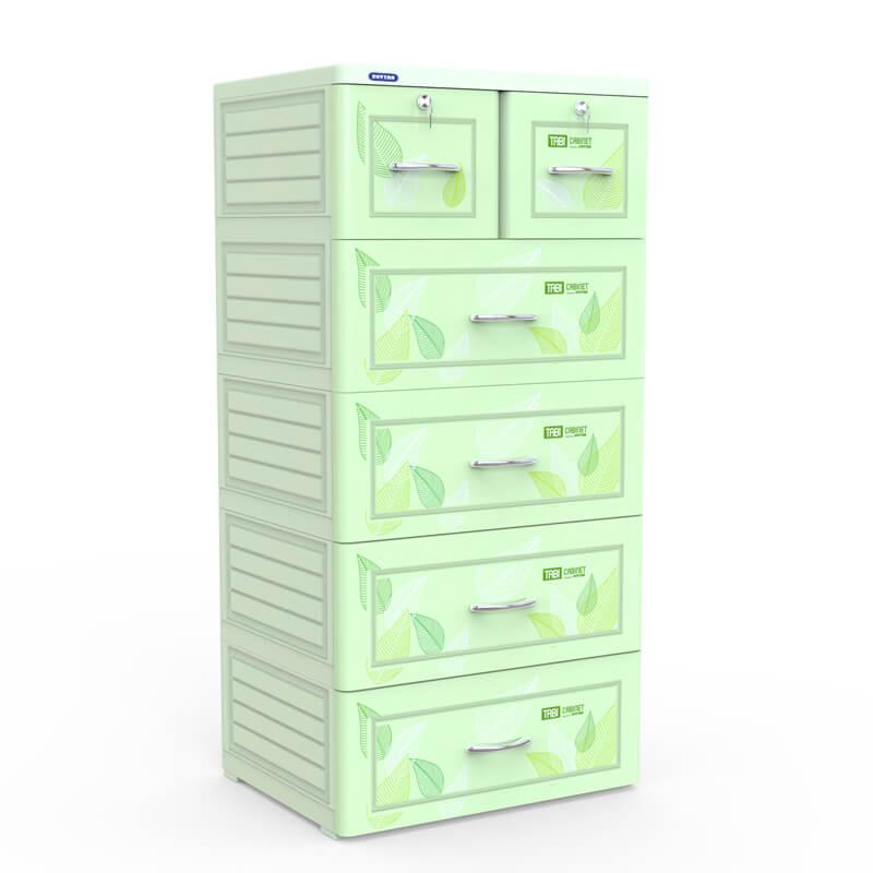 Tủ tabi xanh lá 5 ngăn Duy Tân