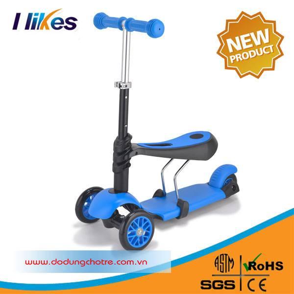 Xe scooter 3 in 1 QQ trẻ em phiên bản mới 1