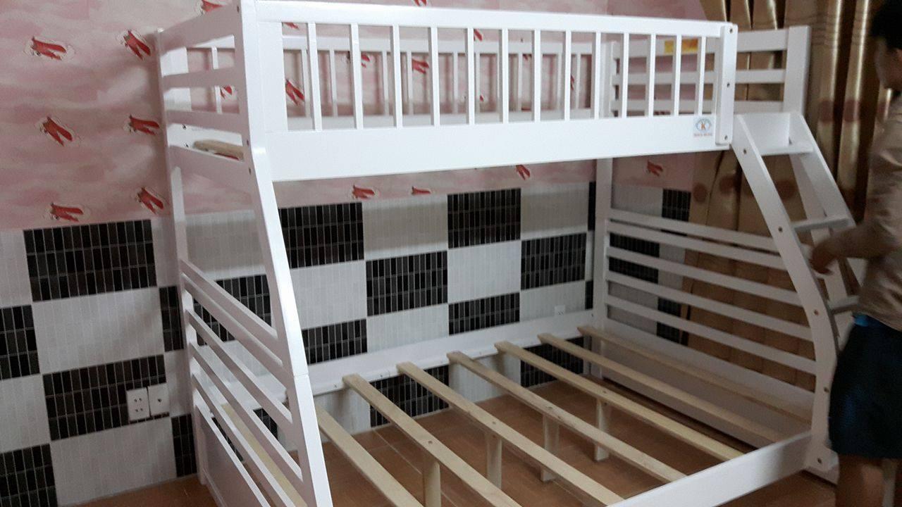Xả hàng giường tầng B229 trắng
