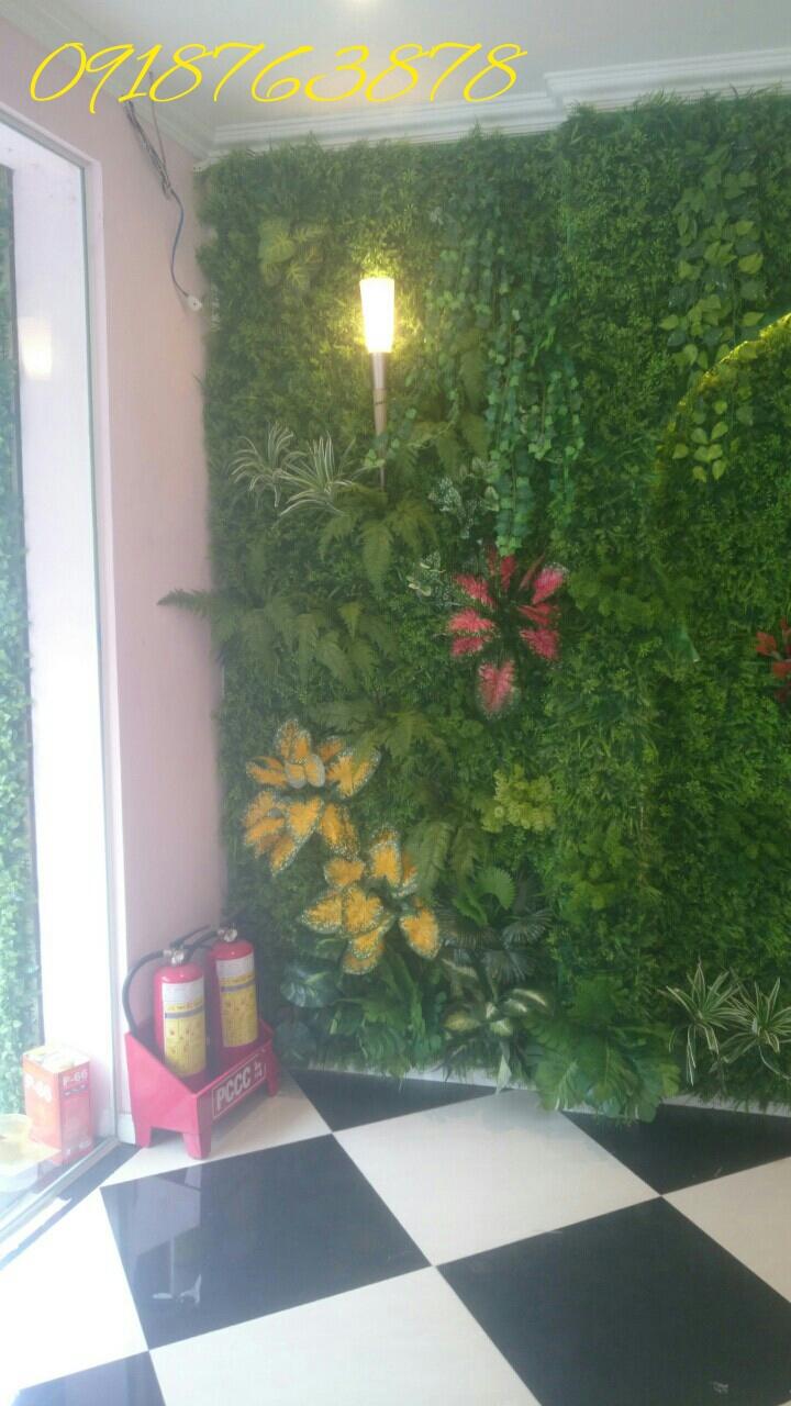 Thi công tường cây giả tại Gò Vấp, điểm nhấn đẹp ấn tượng