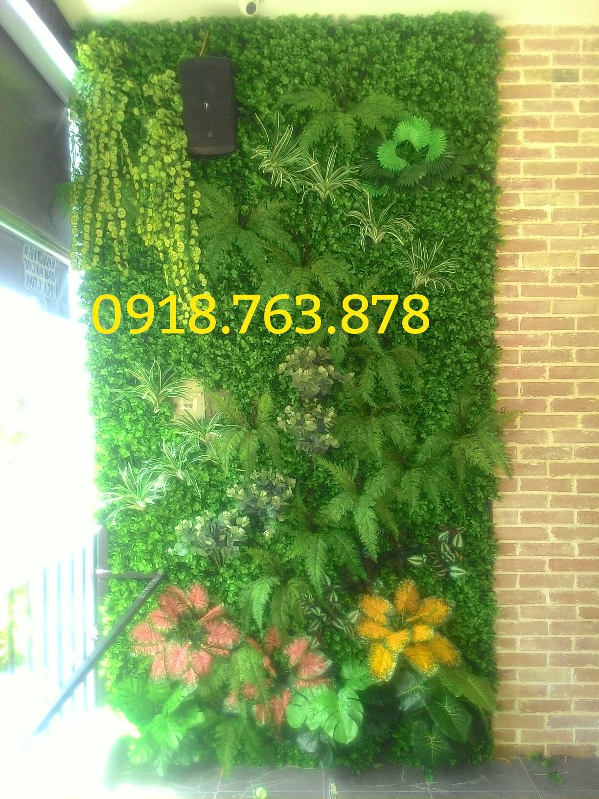 Tường cây cỏ giả trang trí văn phòng công ty khu citiland quận Gò Vấp