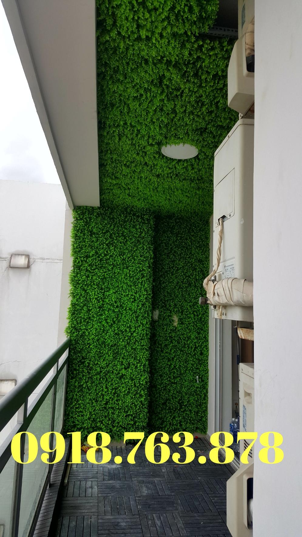 Công ty thi công tường cây giả, tường cỏ giả tại quận 9