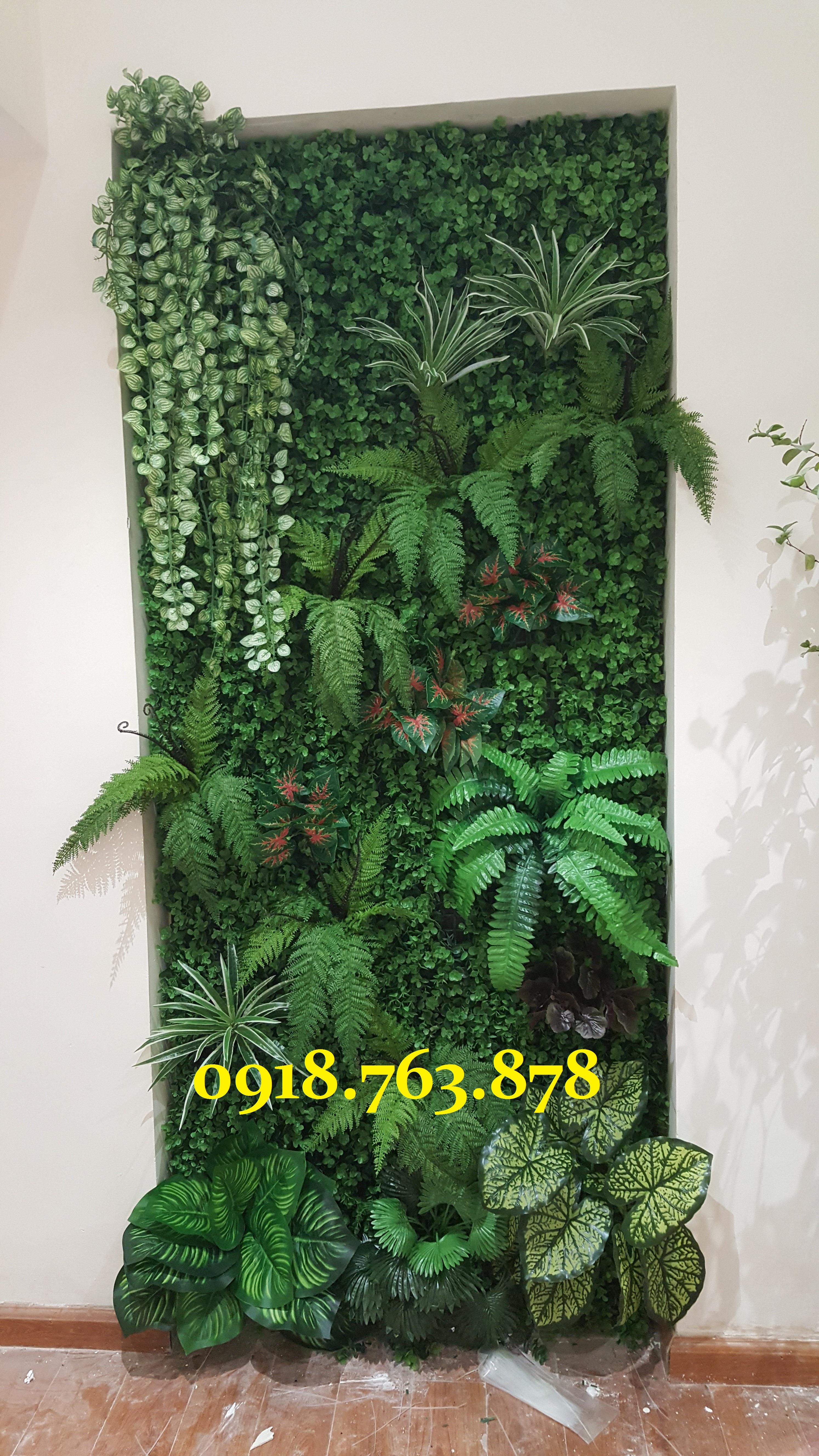 Thi công tường cây giả ở quận Gò Vấp, q gò vấp tphcm, hcm