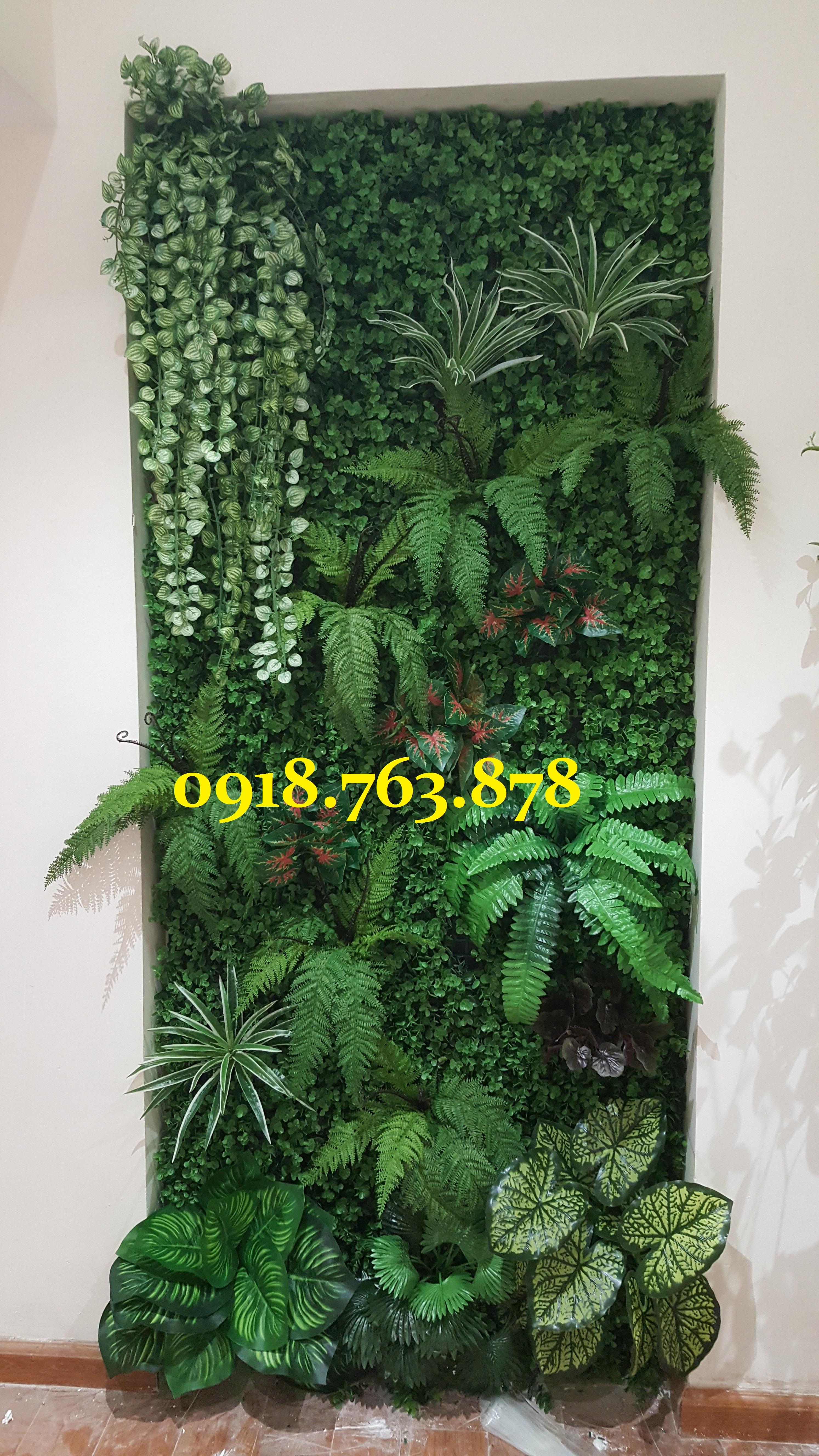 Tường cây giả cỏ giả trang trí mọi  không gian