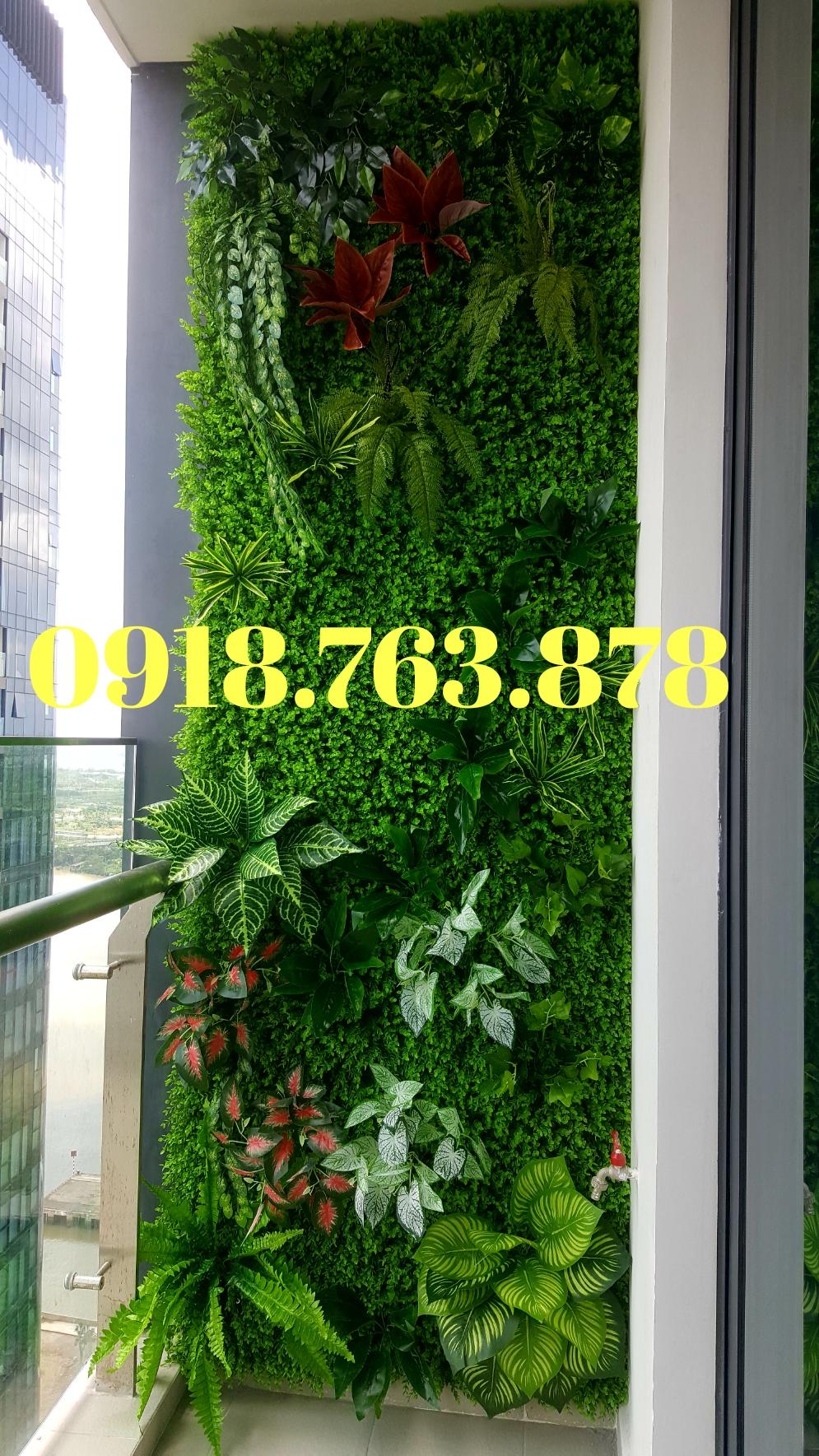 Thi công tường cây giả ở quận Tân Bình, q Tân Bình tphcm, hcm
