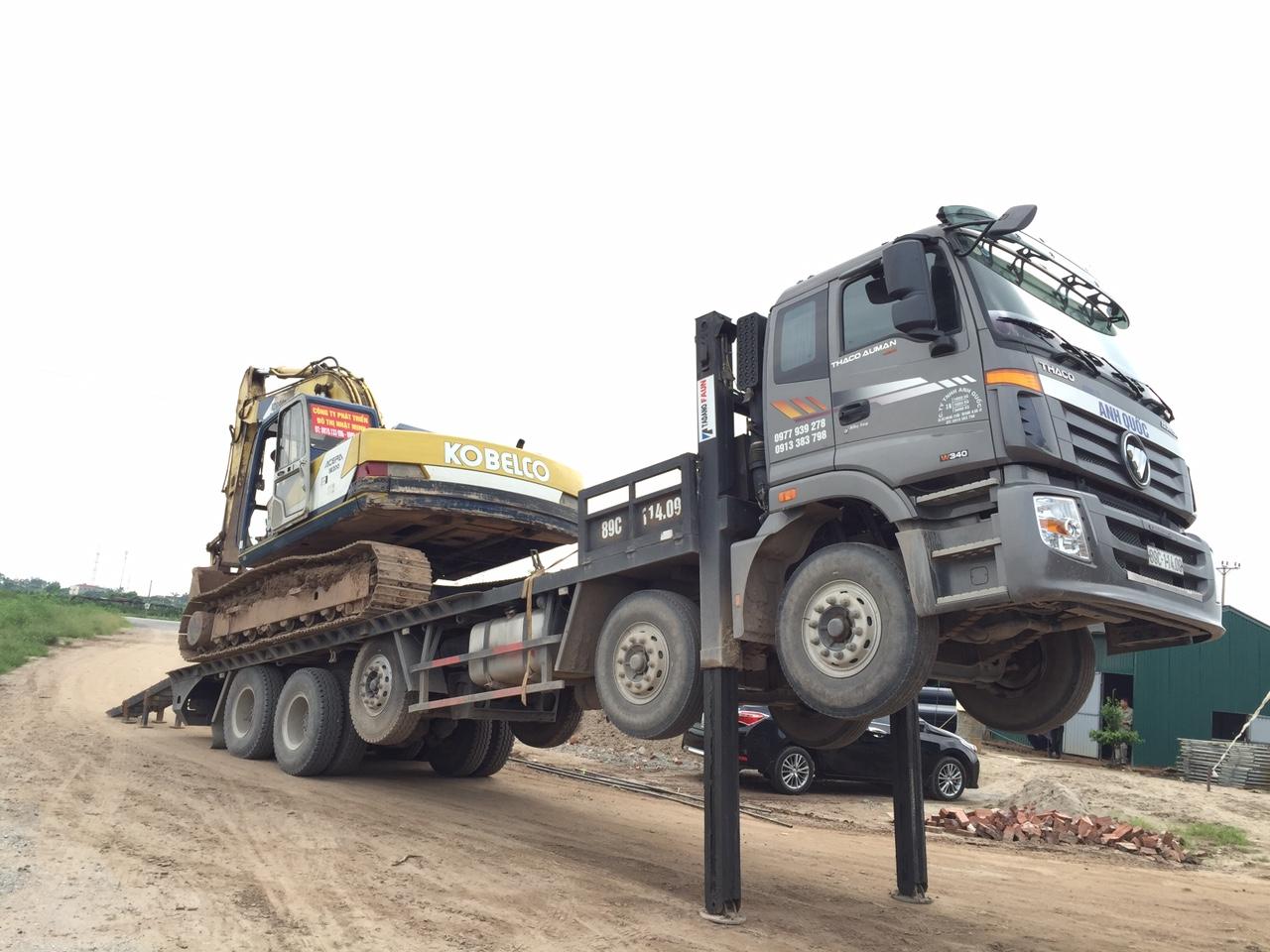 Xe ô tô nâng đầu chở máy công trình Thaco Ollin500B, Ollin700B, Ollin950A