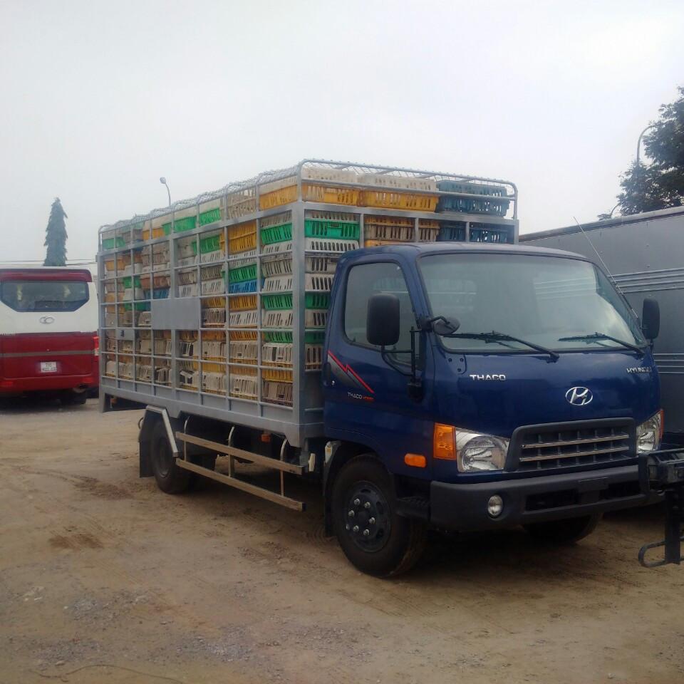 Xe chở gà HD650 6 tấn