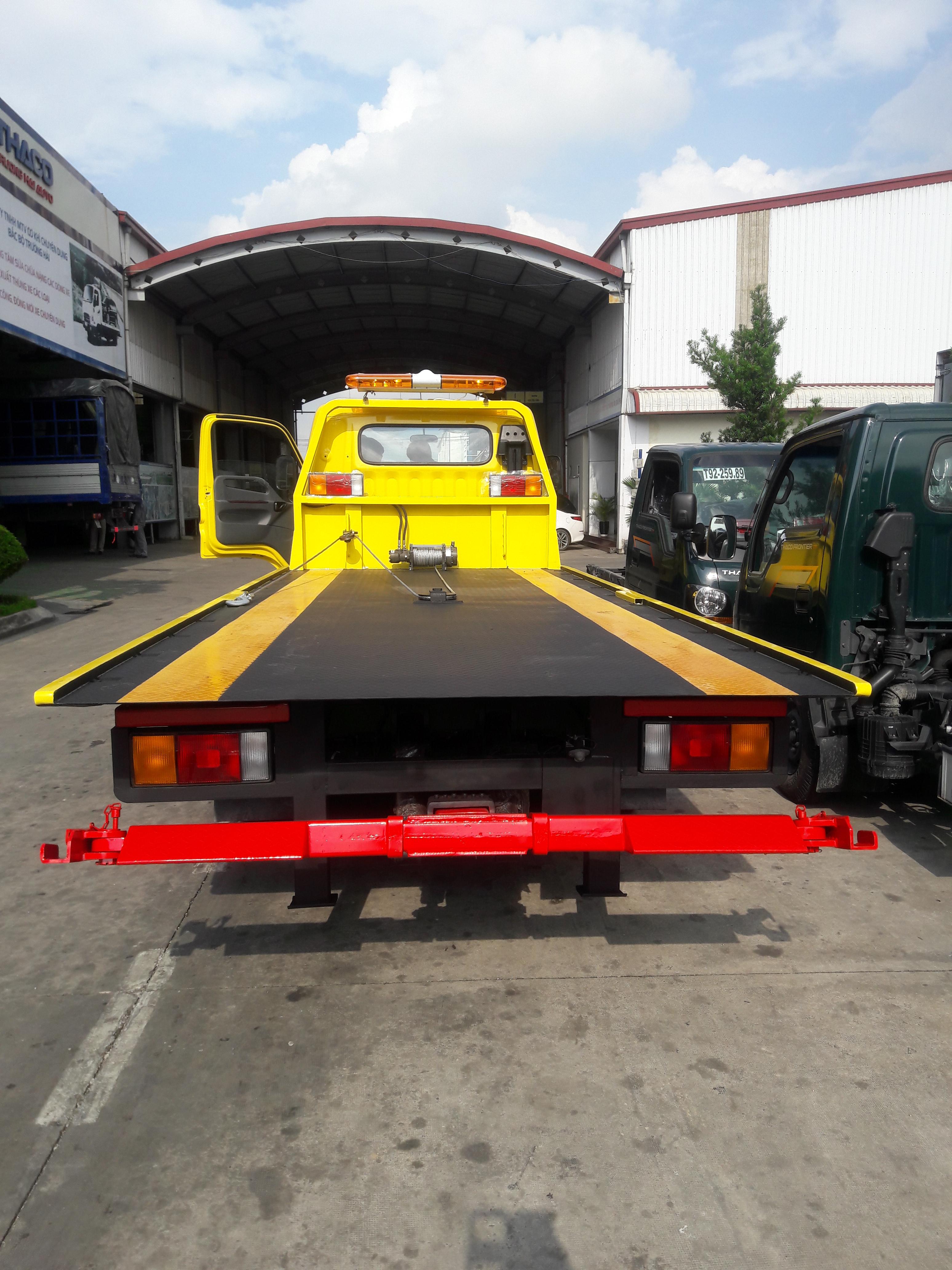 Xe cứu hộ, kéo chở xe, sàn trượt Hyundai HD450