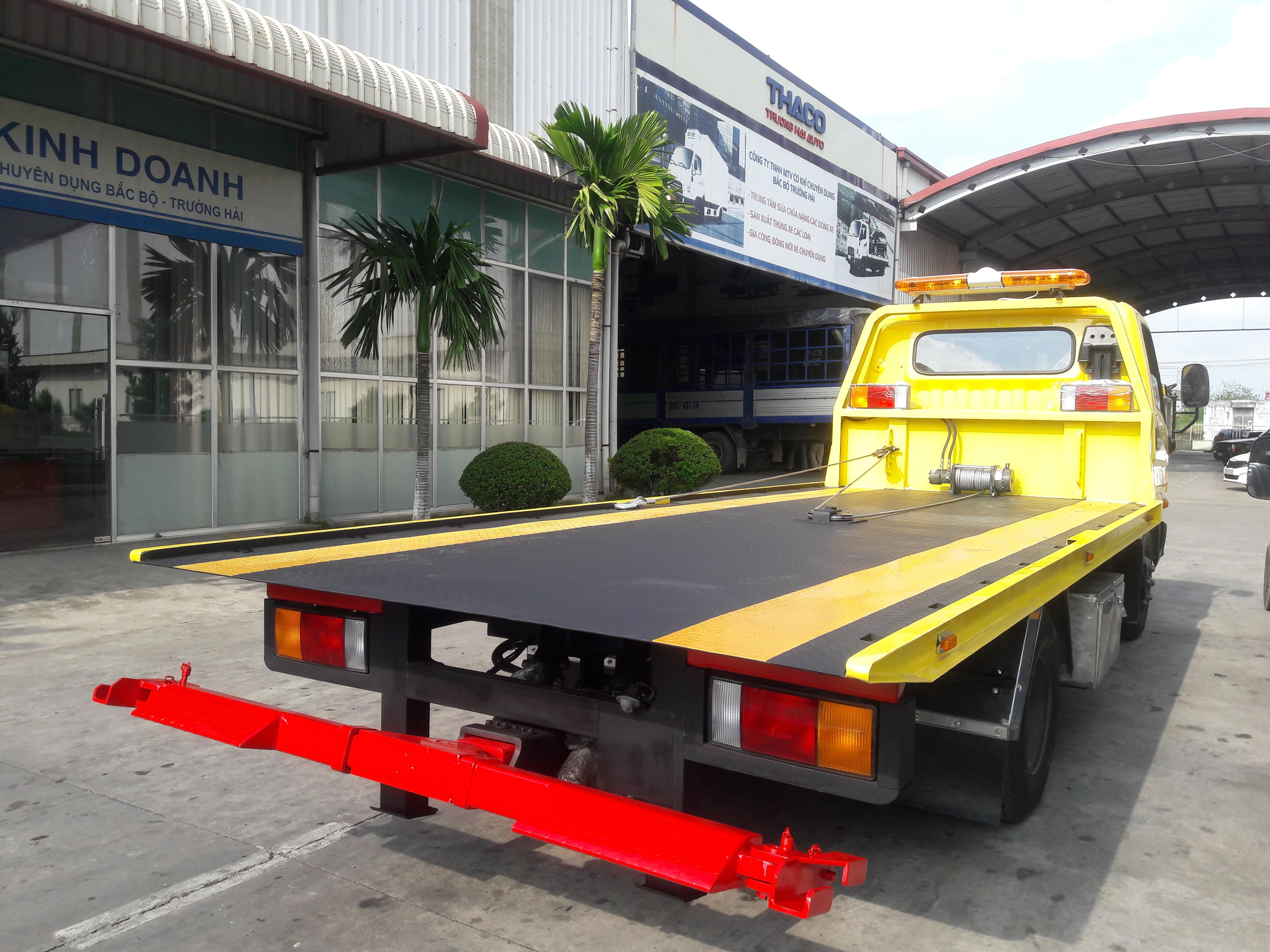 Xe cứu hộ, sàn trượt chở ô tô Hyundai HD450
