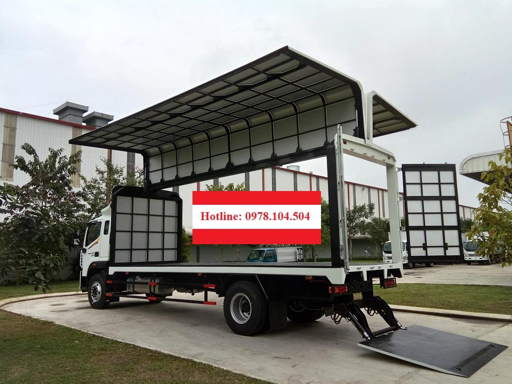 Xe thùng cánh dơi Auman C160.E4 9 tấn