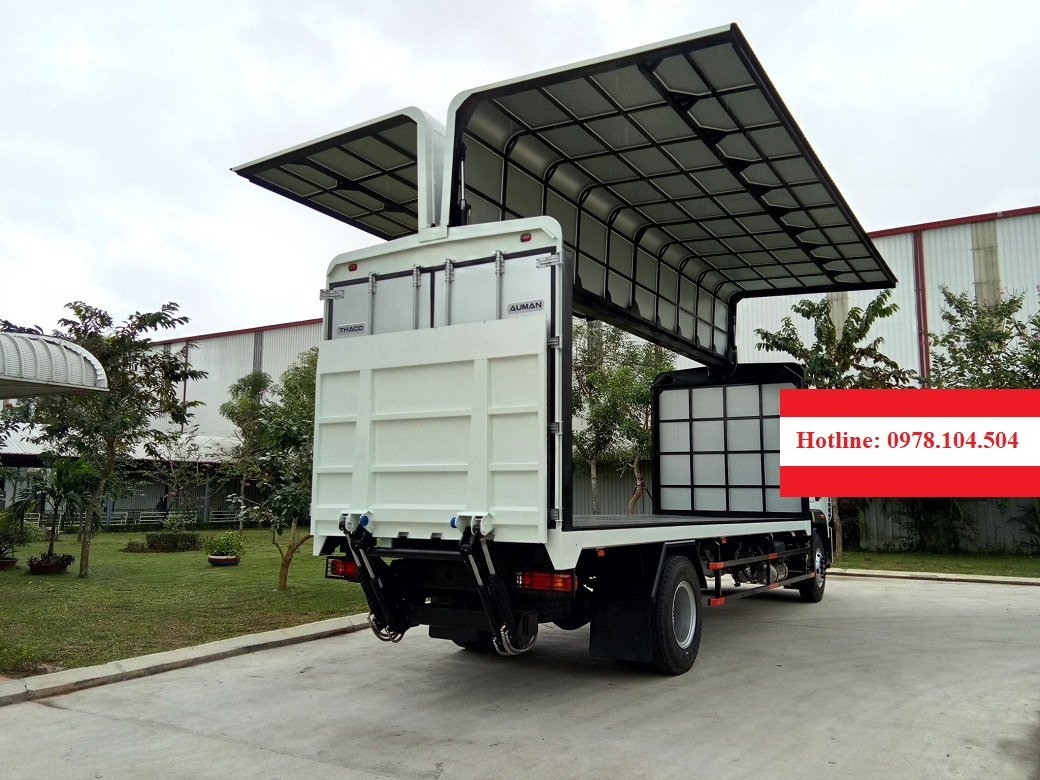 Xe thùng cánh dơi Thaco Auman C160.E4