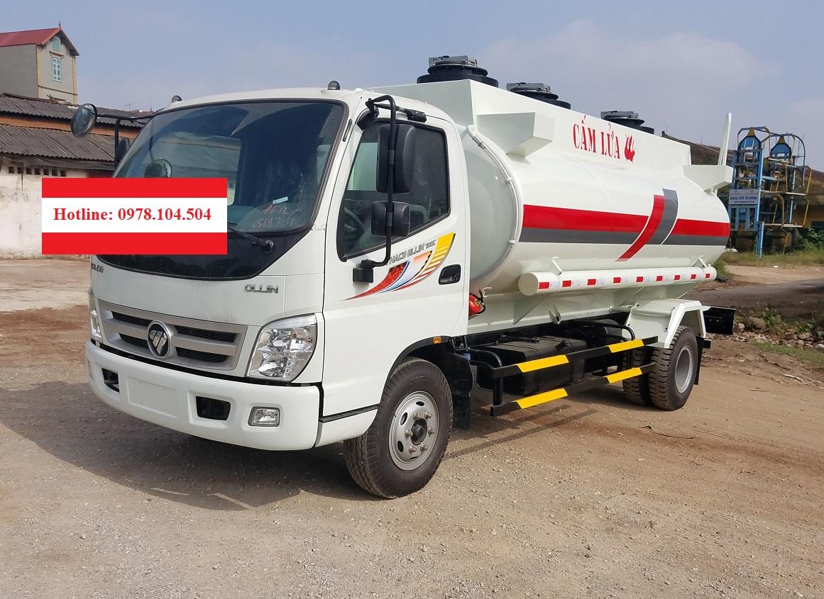 Xe Xitec xăng dầu 9 khối Thaco Ollin700C