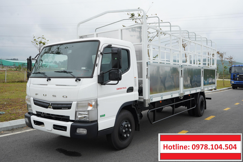 Xe tải 5 tấn Mitsubishi Fuso Canter TF8.5 thùng mui bạt