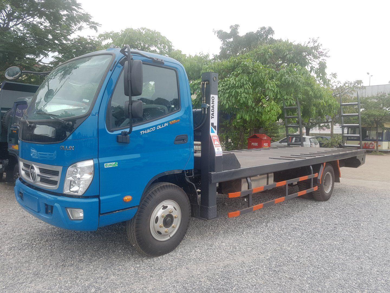 Xe tải nâng đầu chở máy công trình 7 tấn Ollin720.E4