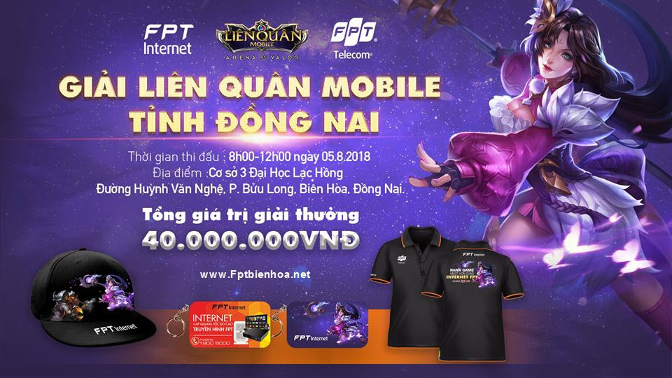 Giải đấu Garena Liên Quân Mobile: Rank game mượt hơn cùng Internet FPT