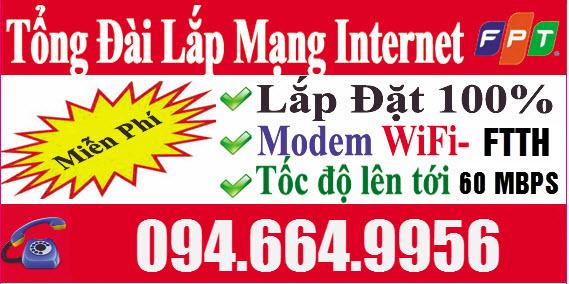Lắp Mạng  Wifi Cáp Quang FPT Miễn Phí 100% Cho Khách Trọ, Thuê Nhà - Thủ Tục Chỉ Cần CMND Foto