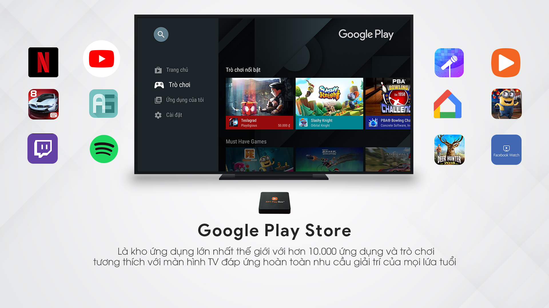 GOOGLE PLAY TRÊN FPT PLAY BOX