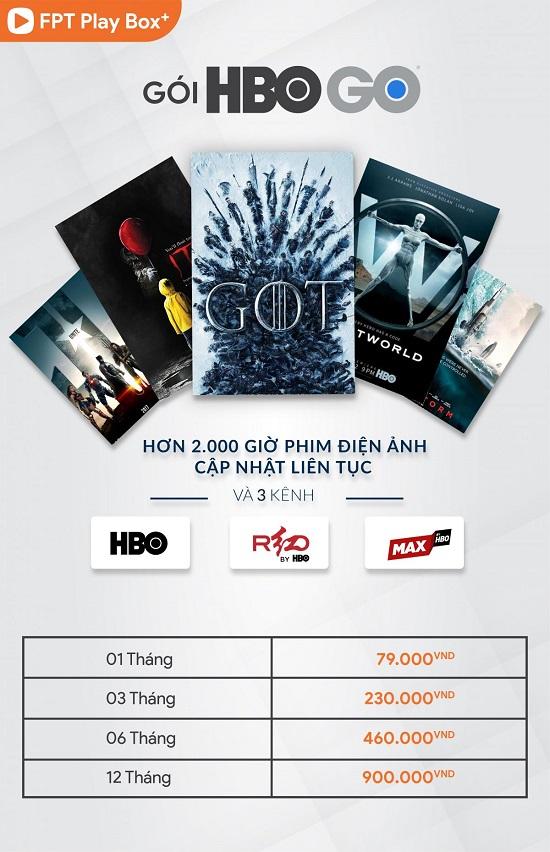 Gói kênh HBO trên fpt play box