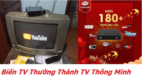 Đầu Thu FPT Biến TV thương Thành TV Thông Minh