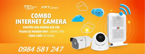 Combo Internet Va camera FPT Tai Bien Hoa