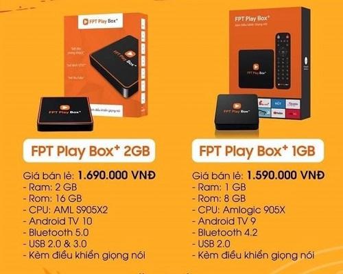 So sánh 2 phiên bản FPT Play Box 2020 va 2019