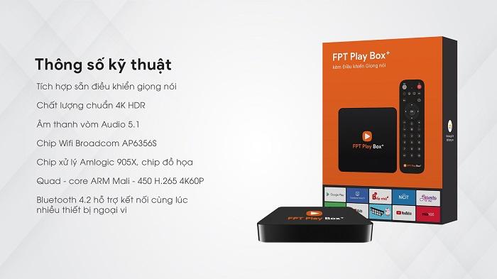 thông số kỹ thuật fpt play box