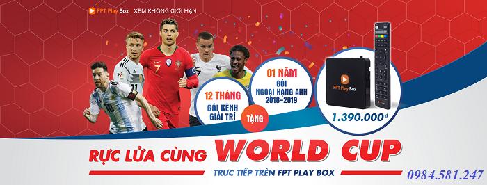Xem worl cup 2018 trên fpt play box